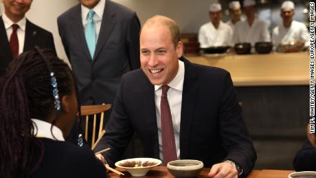 William makes a meal of his Japanese trip