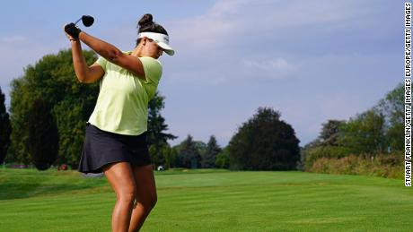 Torres is on form in the final major of the women's golf season.
