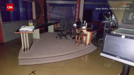Hurricane Florence: North Carolina family's garage submerged in water