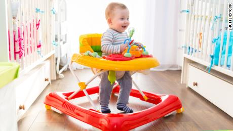 More than 9000 USA children are injured using infant walkers every year