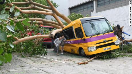 China evacuates millions after Typhoon Mangkhut leaves Hong Kong in tatters