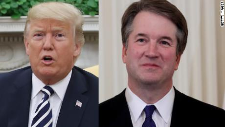Trump defends Supreme Court pick after sex assault allegation
