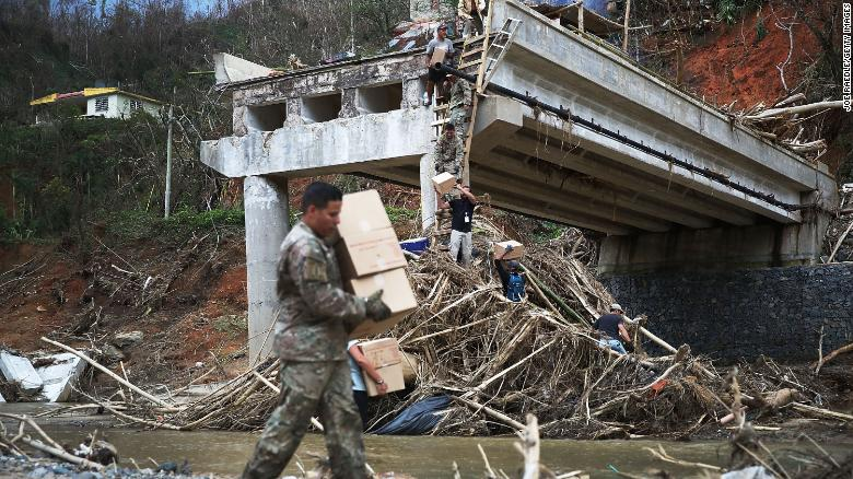 Trump says hurricane-hit Puerto Rico has received too much aid