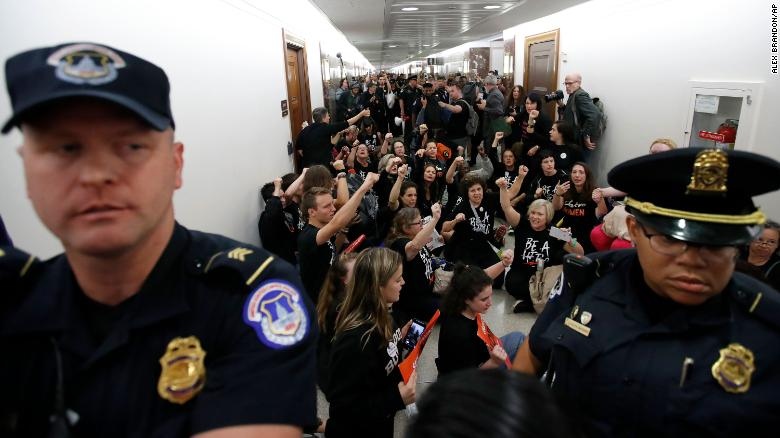 Brett Kavanaugh protest: Furious protestors BURST into US Senate building