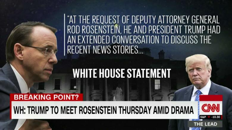 Trump postpones meeting with Rosenstein