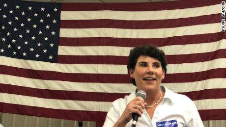 Retired fighter pilot Amy McGrath says she wanted to serve her country again, this time in Congress.