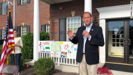 Barr is keeping up a hectic schedule, here addressing the Central Kentucky Right to Life Walk.