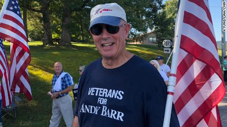 Veteran Donald Storm says he respects Amy McGrath's military service but he will still support Republican Andy Barr.