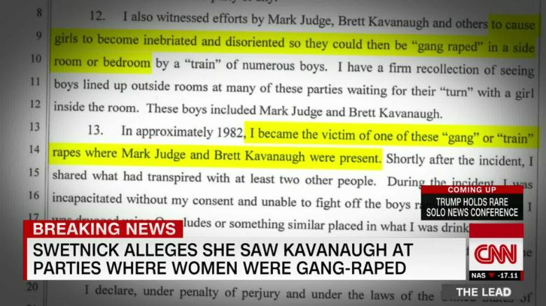 Kavanaugh accusations of sexual assault in Newport are recanted