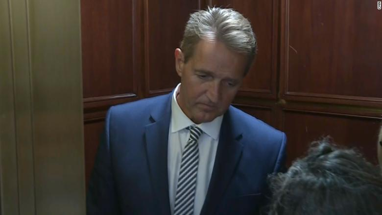 Flake confronted by 2 female protesters over Kavanaugh vote