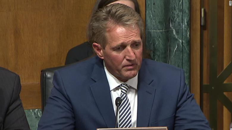 President Trump Reacts to Jeff Flake's Call For a Delay on Kavanaugh