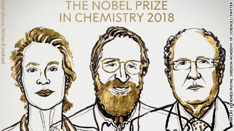 Arnold, Smith, Winter win 2018 Nobel Chemistry Prize
