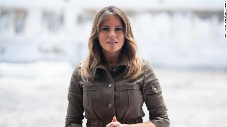 Silent Melania Trump plods toward end of her husband's tumultuous term