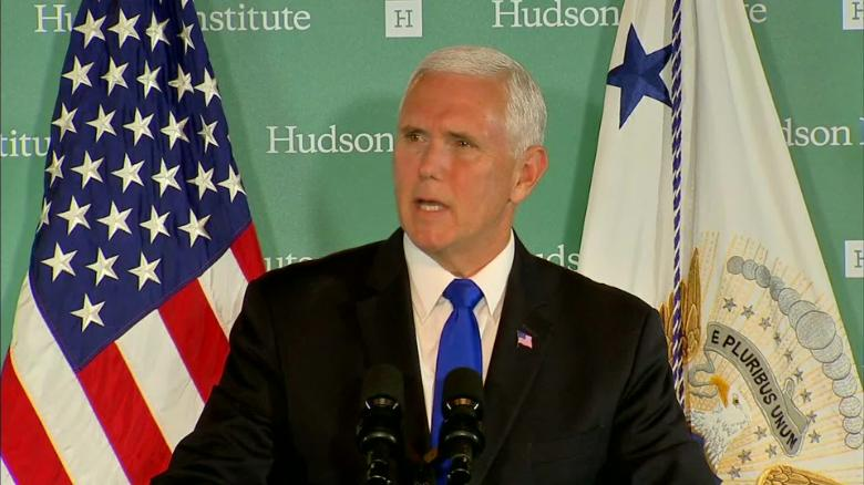 Pence to address China in Hudson Institute speech