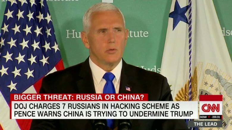 Pence accuses Beijing of meddling in U.S