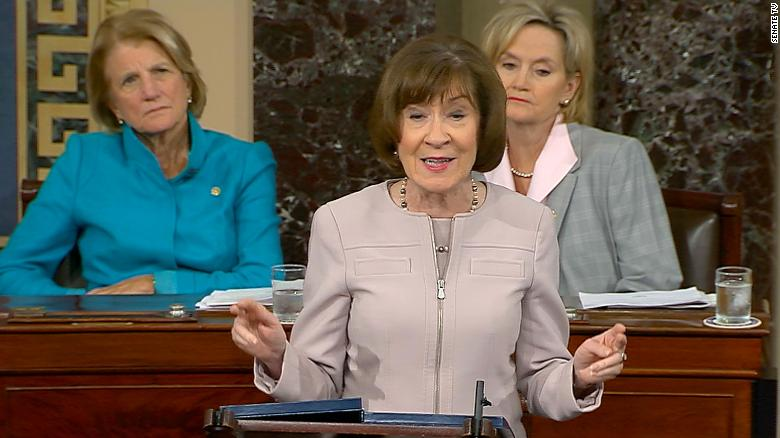 Collins says she doesn't believe Kavanaugh assaulted Ford