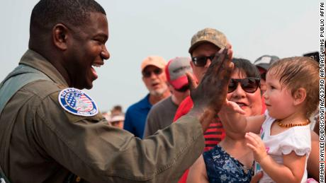 Pioneer African-American Air Force F-22 Raptor pilot aims to inspire