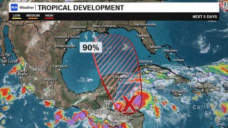 Tropical Storm Michael forms in the Yucatan