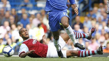 Clarke Carlisle in action in 2009.