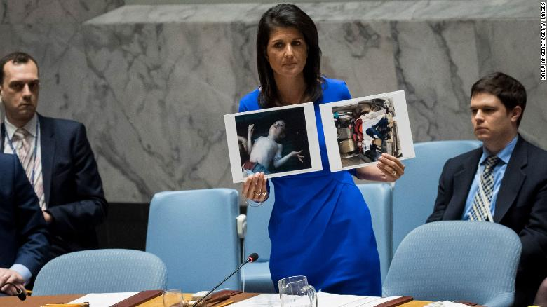 Watch Nikki Haley on the world stage