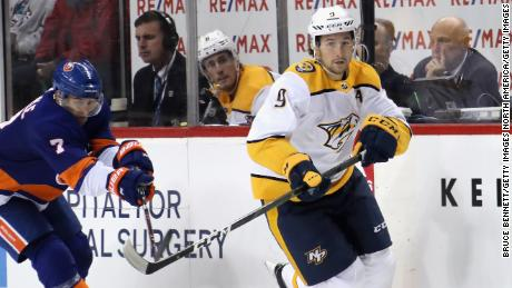 Filip Forsberg (R) joined the Nashville Predators from the Washington Capitals in the 2012/13 season.