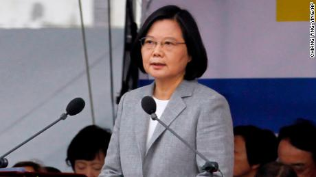 Taiwan's president calls on Beijing to not be a 'source of conflict' worldwide