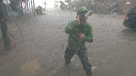 CNN Meteorologist Derek Van Dam reports inside Hurricane Michael