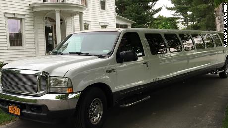 The limousine was a stretch Ford Excursion.