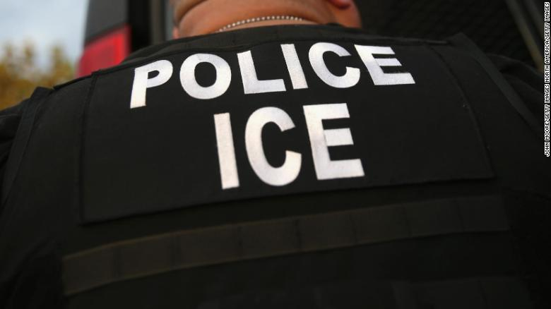 Los Angeles California. ICE agents said the immigrant a legal resident with a Green Card was a convicted criminal and membe