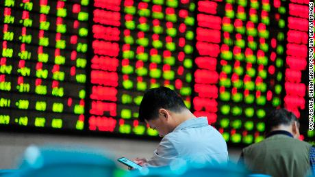 Shanghai at four-year low; Hang Seng down as Tencent plunges