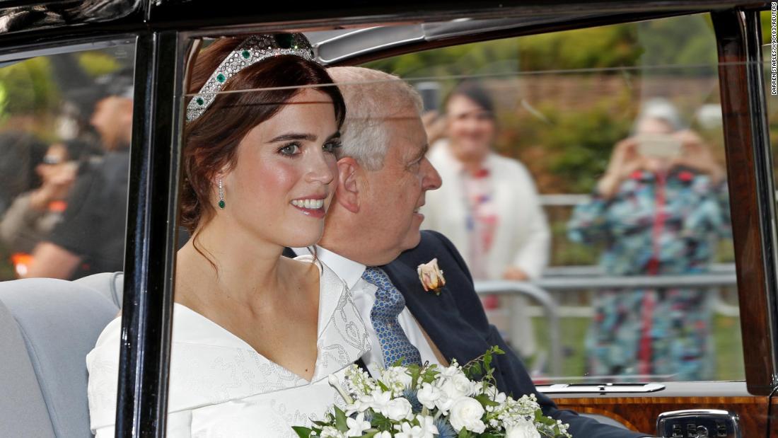 Eugenie Wedding Dress.Princess Eugenie Makes Bold Statement With Wedding Dress Revealing