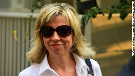 Andrew brunson's wife,  Norine Brunson, departing for Friday's hearing.