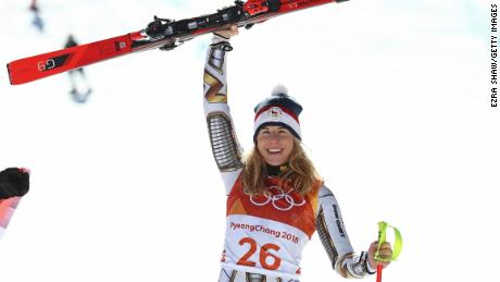 Ester Ledecka's & # 39; First person in 90 years to win both sides of gold and snowboard at the same WInter Olympics.