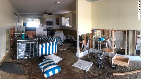 A woman journeys back to her wrecked home after Michael. This is her chronicle
