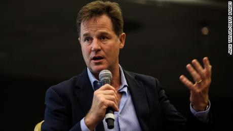 Nick Clegg speaking at a a Liberal Democrat Party Conference fringe event in September