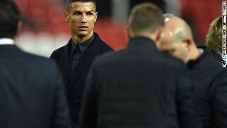 Cristiano Ronaldo joined teammates during a walkabout inside Old Trafford.
