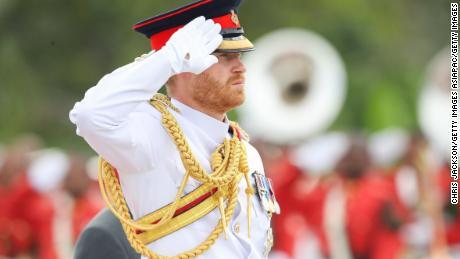 Prince Harry attends a wreath memorial in Suva, Fiji.