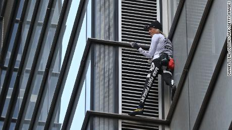 'Spider-Man' Alain Robert scales London's Heron Tower