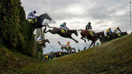 """The most infamous obstacle in the race is the """"Taxi Ditch"""" -- it requires horses to jump over a 1.5 meter high hedge and a four meter long ditch which is one meter deep."""