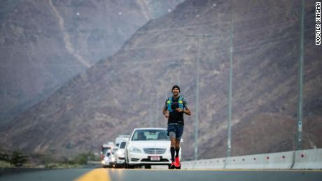Khaled Al-Suwaidi is the first Emirati to run across his country, from the east coast to the west coast.