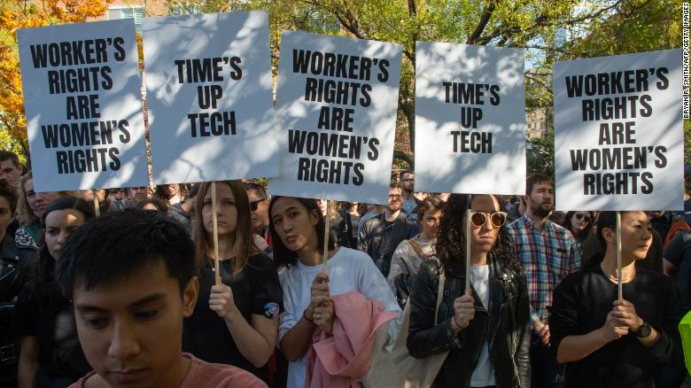 Watch Google employees stage global protests