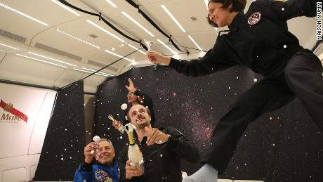 Maison Mumm has created champagne that can be consumed in zero-gravity.