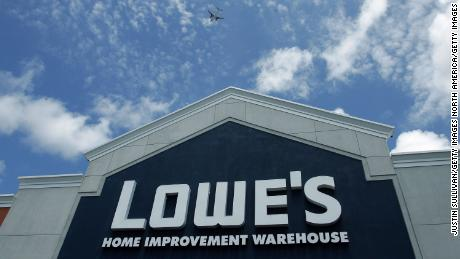 SAN BRUNO, CA - MAY 22:  A sign on the exterior of a Lowe's home improvement warehouse store is seen May 22, 2006 in San Bruno, California. Lowe's, the second largest home improvement store chain in the world, reported quarterly net earnings of $  841 million, up almost 44 percent from the previous year at this time.  (Photo by Justin Sullivan/Getty Images)