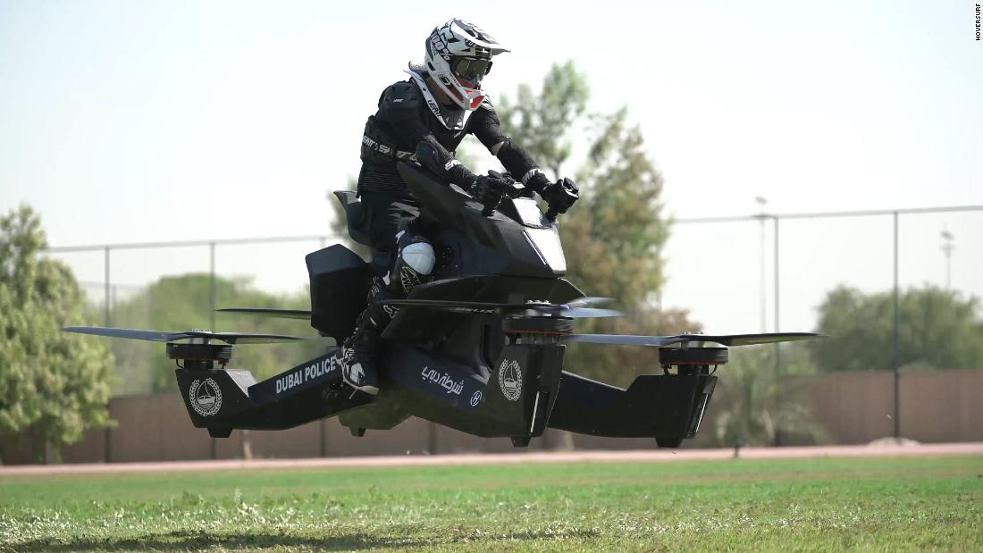 Flying Motorcycle : Dubai Police take to the skies