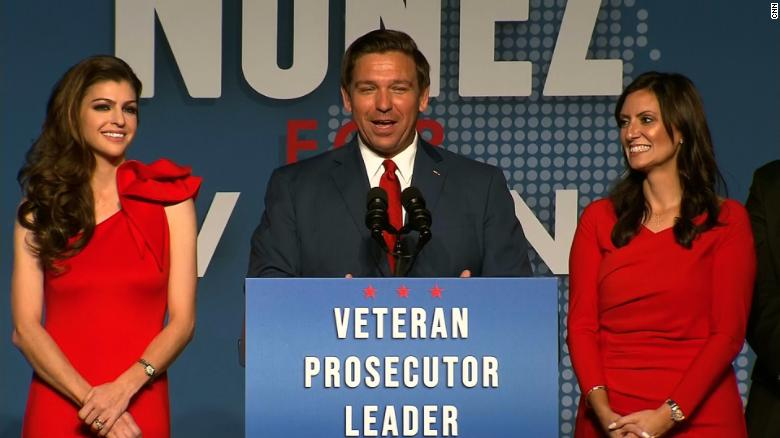 DeSantis thanks Trump in victory speech