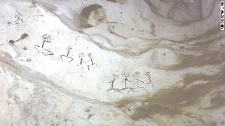 Human figures of at least 13,600 years.