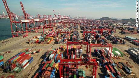 A port in Qingdao, Shandong province, China. US tariffs have made more than $  250 billion of exports from China more expensive, prompting some companies to move production out of the country.