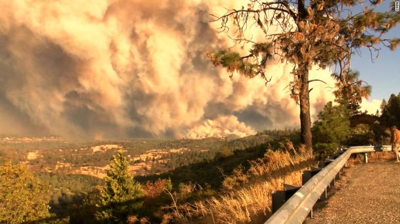 Wildfires near California town still reeling from bar shooting