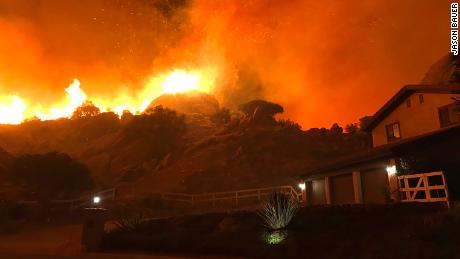 Woolsey Fire in southern California exploded in size overnight on Thursday.