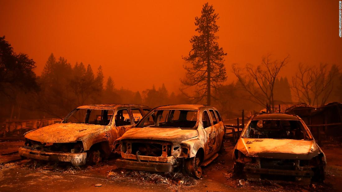 Raging infernos spread on both ends of California, killing 9 people